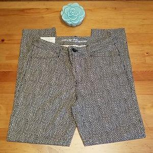 Gap Slim City Khakis Black & White Print Pants NWT
